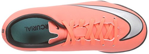 Nike Mercurial Victory V Ic, Scarpe da Calcio Bambino, Bright Mango-Metallic Silver-Hyper Turquois Orange (Bright Mango/Hyper Turquoise/Metallic Silver)