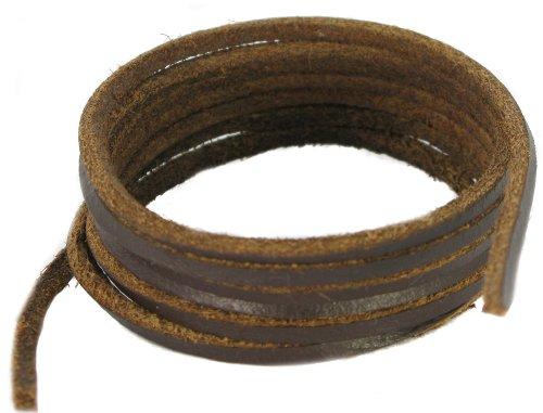Patin et Boot -lacets en cuir marron foncé 75cm
