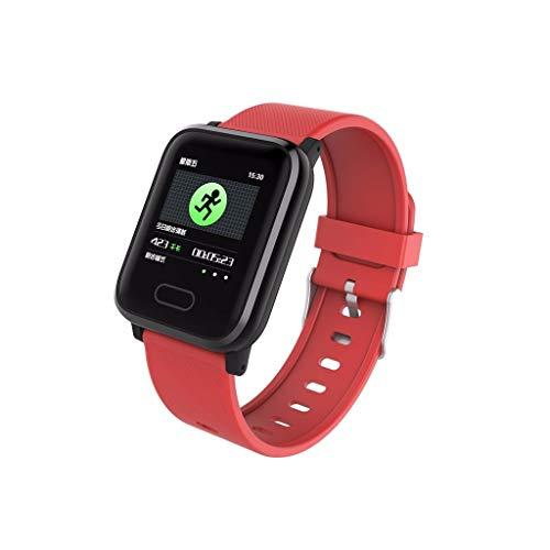 Smart Sports Watch-Yallylunn Fitness Activity Heart Rate Tracker Silica Gel Tempered Glass Built-In Motor Watch Linkedin Skype Facebook Twitter Whatsapp Line Viber Calories IP67 TPU (B2)