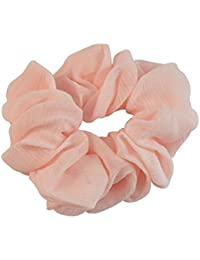 Sarah Peach Soft Fabric Hair Rubber Band For Ponytail Big Rubber Band Hair Accessories