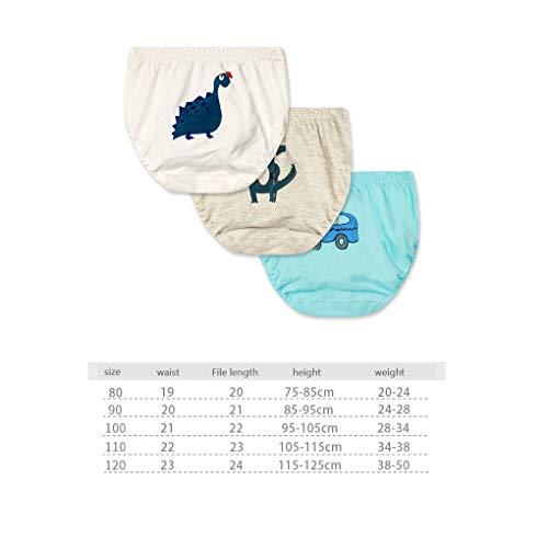 Jinzuke 3pcs Kind-Jungen-Mädchen-Karikatur-Tiere Print-Schlüpfer-Baumwollunterwäsche Unterhose Briefs Set