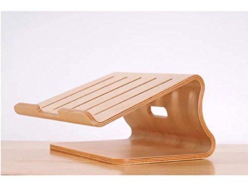 System-S Echtholz Universal Notebookständer Laptop Netbook Ständer Halter Holz Ergonomisch in beige
