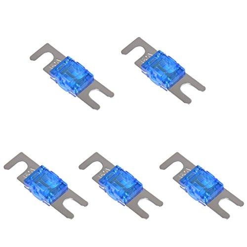 Non-brand 5 Stück Mini ANL Schraube Gabel Sicherung Kit Car Audio Circuit Breaker - 60A (Car-audio-sicherungen)