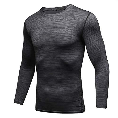 Celucke Langarm Funktionsshirt Herren Kompression Sport Funktionsunterwäsche Sportunterwäsche Kompressionsshirt, Unterhemden Männer Compression Shirt Laufshirt