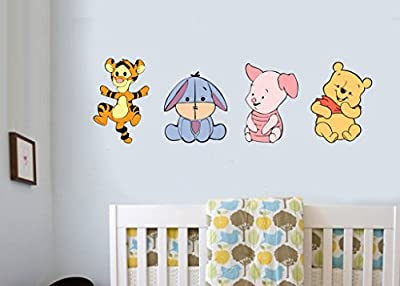 Baby Nursery Characters - Pack of 4 - Wall Art Vinyl Printed Stickers Bedroom Room Decals produced by Stickers on Your Wall - quick delivery from UK.