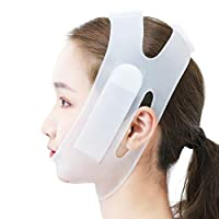 XCO XiaoXIAO Thin Face belt, Silicone Face-lift Bandage V Face Artifact Thin Double chin Breathable Sleep Lifting Firming Bunch Face belt Facial Mask Belt (Color : Clear)