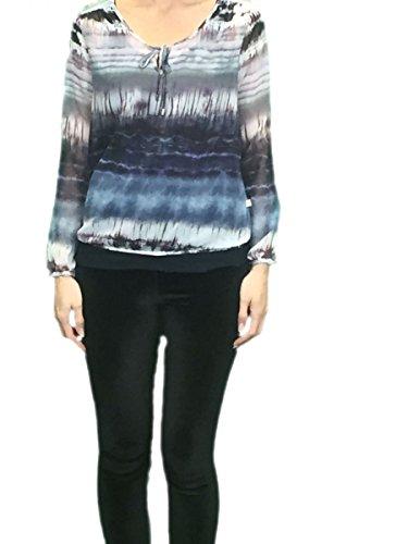 Herrlicher Damen Shirt Leana langarm Bluse multicolor Mehrfarbig