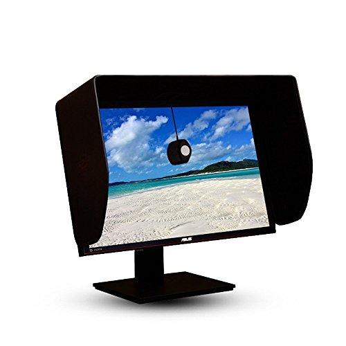 iLooker 24P 24 Zentimeter LCD LED Video Monitor Hood Sonnenschutz Sunhood für Dell HP ViewSonic Philips Samsung LG Eizo NEC ASUS Acer BenQ AOC Lenovo , passt Monitor Rahmen breite 550-565 mm Lcd Monitor Hood