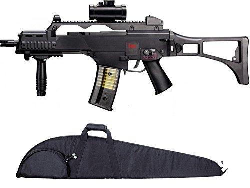 SET: HK Heckler & Koch G36 C AEG ELEKTRISCH Softair Gewehr + Hochwertige abschließbare G8DS® Gewehrtasche schwarz
