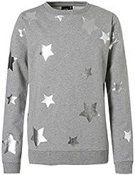 NAME IT - Sweat-shirt - Fille gris Grau mit Silber