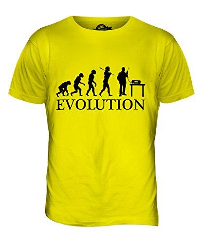 CandyMix Cb Funk Evolution Des Menschen Herren T Shirt Zitronengelb