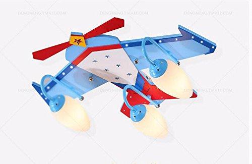 GZLight Deckenleuchten Moderne Kinderzimmer Flugzeuge Lampe Boys Blue Fernbedienung 60 * 50 * 26 cm (Bad-wärme-lampen)