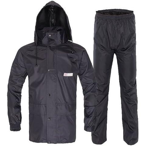 Peak-Giacca impermeabile, da esterni, giacca/pantaloni antipioggia Giacca antipioggia, da ciclismo/moto per uomo, modello da (Mens Completo Giacca In Nylon)