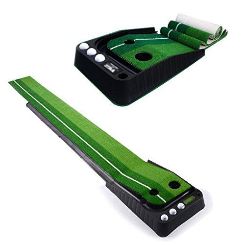 a-nam Système intérieur de Golf Putting Trainer avec ball-return-rail pour entraînement de golf, golf putter-trainer portable, pratique de Golf