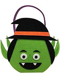 8b214e709 Haodou 1 Uind Dulces de Halloween Calabaza Trick or Treat Sacos Regalo para  Niños Evento Fiesta Suministros Decoración Bolsa temática de…