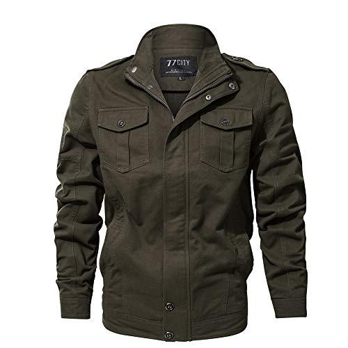 Celucke Winterjacke Herren mit Mehrfache Tasche,Männer Military Jacke Version Übergangsjacke Bomberjacke US Feldjacke