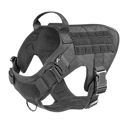 Military Tactical Dog Modular Harness Ohne Front Clip Arbeits Molle Jagdweste Ziehen (Color : Green, Size : XS)