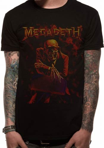 Collectors Mine - Camiseta de Megadeth con cuello redondo de manga corta para hombre, Multicolor, Medium