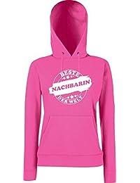 ShirtInStyle Lady Hooded Beste NACHBARIN der Welt, StampStyle viele Farben, Größe XS-XXL