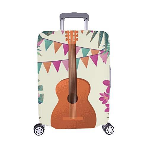 Guitarra Frangipani Plumeria Flores Hojas de Palma Maleta Spandex Maleta de Viaje Maleta Protectora para Viaje Cubierta 28.5 X 20.5 Pulgada