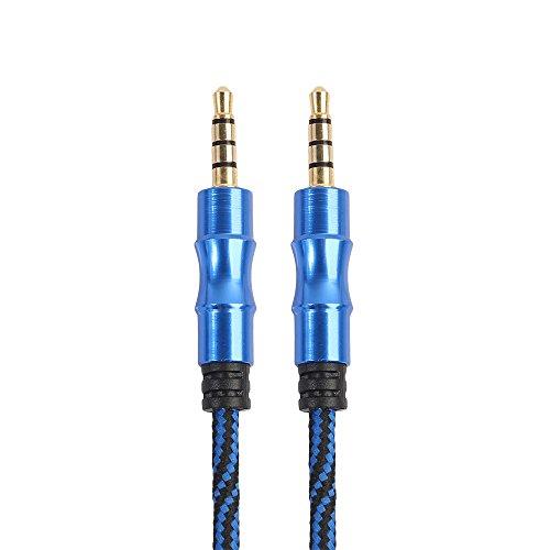 3.5mm Klinkenstecker zum männlichen Stereo Kopfhörer Auto Aux Audio Verlängerungskabel Länge 1m (Blau) (Stereo-autos)