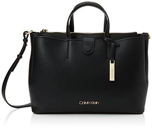 Calvin Klein Jeans Damen Step Up Large Tote, Schwarz (Black), 15x28x42 cm