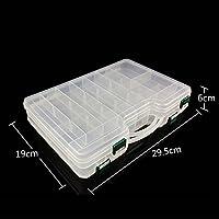Eleganantamazing - Caja de plástico portátil de Doble Cara con separadores Ajustables, contenedor de Alta Capacidad para Aparejos de Pesca
