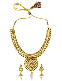 Rejewel High Gold Plated Lovely Necklace Set For Women.