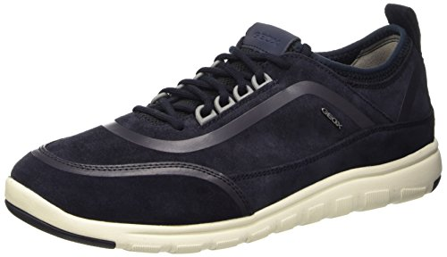 Geox u xunday 2fit b scarpe low-top, uomo, blu (navy), 43