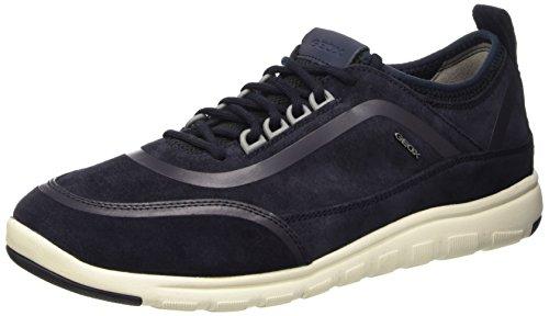 Geox u xunday 2fit b scarpe low-top, uomo, blu (navy), 41