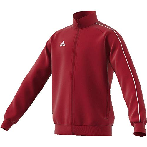 adidas Kinder Core 18 Jacke, Rot (Power Red/White), 128