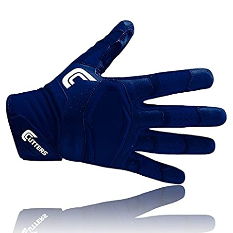 Cutters S451REV Pro 2.0Solid-State Drive American Football Receiver gloves, navy, size S–2XL, S451 Rev Pro 2.0 Solid, solid-navy, L