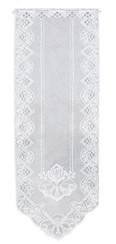 Haus und Deko Tür-Panneaux Mona weiß 60x180 cm Türvorhang Glastür Scheibengardine Jacquard Gardine 5 Modelle Typ 4