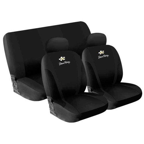 Preisvergleich Produktbild Simoni Racing CSR/DA-N Universelle Abdeckung Sitze Gänseblümchen, Schwarz