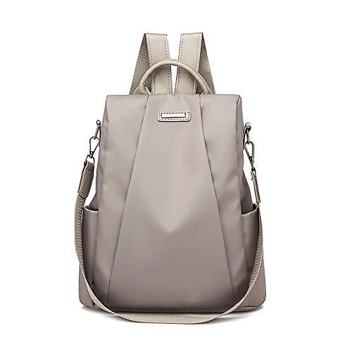 HDUFGJ Backpack Damen Studenten Lässiger Daypacks Schüler Bag für Wandern Frauen Reiserucksack Reisetasche Diebstahlschutz Oxford Stoffrucksack