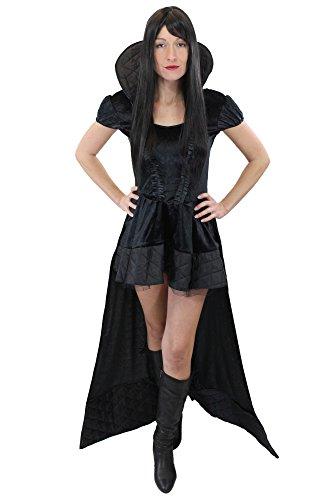stüm Damenkostüm Kleid Böse Königin Hexe Vampirin Vampir Gothic Queen of the Damned Gr. 38, S ()