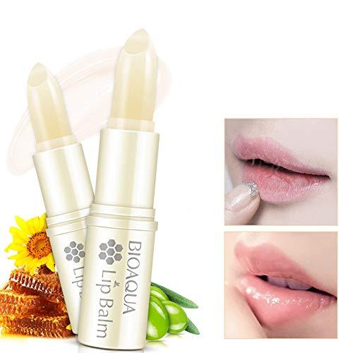 LanLan Baume à lèvres hydratant au Miel d'aloès Naturel Réparation des lèvres sans Couleur réparatrice Crème de Soin des lèvres