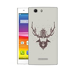 Snoogg Beard With Horns Designer Protective Back Case Cover For MICROMAX NITRO 2