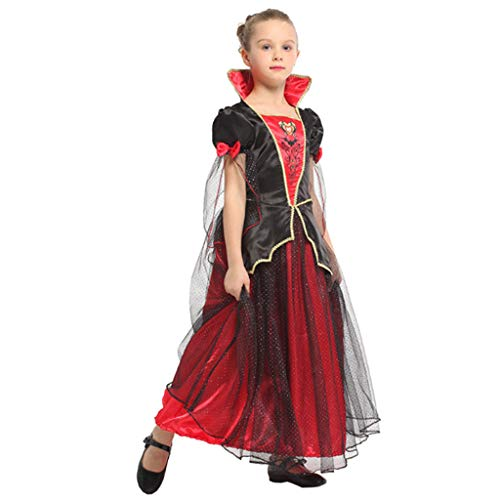 Jester Kostüm Kragen - DONGBALA Halloween-Outfit, Vampirkönigin Kostüm Prinzessin Robe