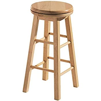 Home Discount® Breakfast Bar Stool Wooden Revolving Kitchen  sc 1 st  Amazon UK & Wooden Kitchen Bar Stools With Back Rest Made Of Tropical Acacia ... islam-shia.org