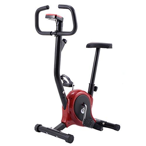 vengaconmigo Bicicleta Reclinada Bicicleta Estática Bicicleta de Fitness para Interiores Gimnasio con Pantalla Múltifioncional (Rojo)