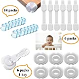 #6: Tdas Baby Child Safety Locks Corner Guards Plug Protectors for Drawer Cupboard Fridge Sliding Door Cabinet Door Stopper Table Bed Wall 3M Adhesive Tape Electric Socket Covers – 26 Baby Proof Set