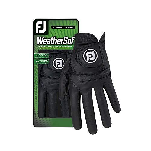 Footjoy WeatherSof Golfhandschuh für Herren, Schwarz, Herren, WeatherSof, schwarz, Cadet Medium