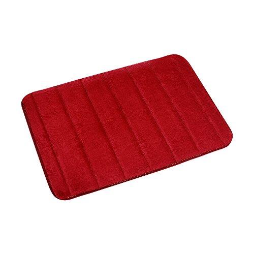 Ericoy Badematte 40x 60 cm Memory Foam Badteppich mit weicher Coral-Fleece Oberfläche und rutschfesten Unterseite aus Latex