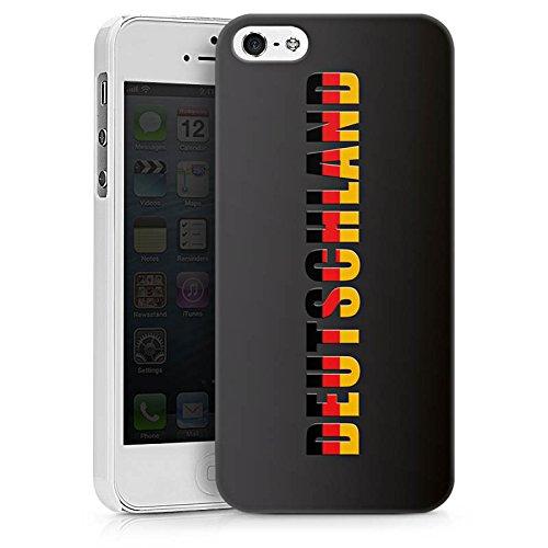 Apple iPhone X Silikon Hülle Case Schutzhülle Deutschland Fußball Flagge Hard Case weiß