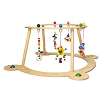 Hess 13333 Wooden Gym & Walker Baby Toy, 70 x 70 x 36 cm, Multi-Color