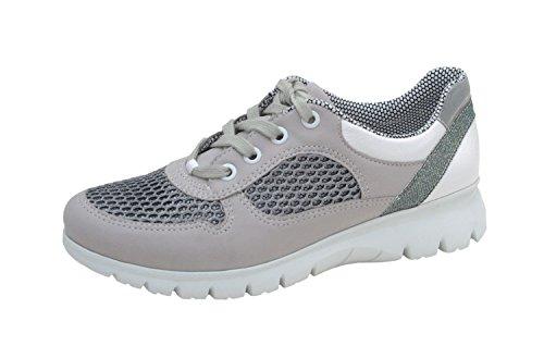 Ara Femmes Sneaker NEW YORK 12-30026-07 cristal / argent, Gr. 37,5 à 40,5, cuir, amovible Argent