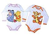 2er Pack Disney Baby Bodys mit süßen Motiv Applikationen 62 68 74 80 86 92 Säuglinge Kleinkinder (86/92, 2er Pack gemischt)
