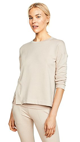 Beyond Yoga Damen Cozy Fleece Sedona Wide Hem Pullover Langärmelig, Texas Taupe, Medium -