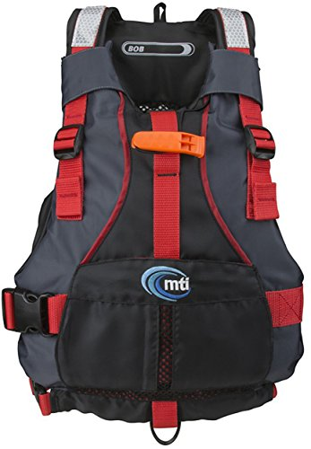 MTI Adventurewear Youth Bob Life Jacket, Black/Red, 50-90 lb
